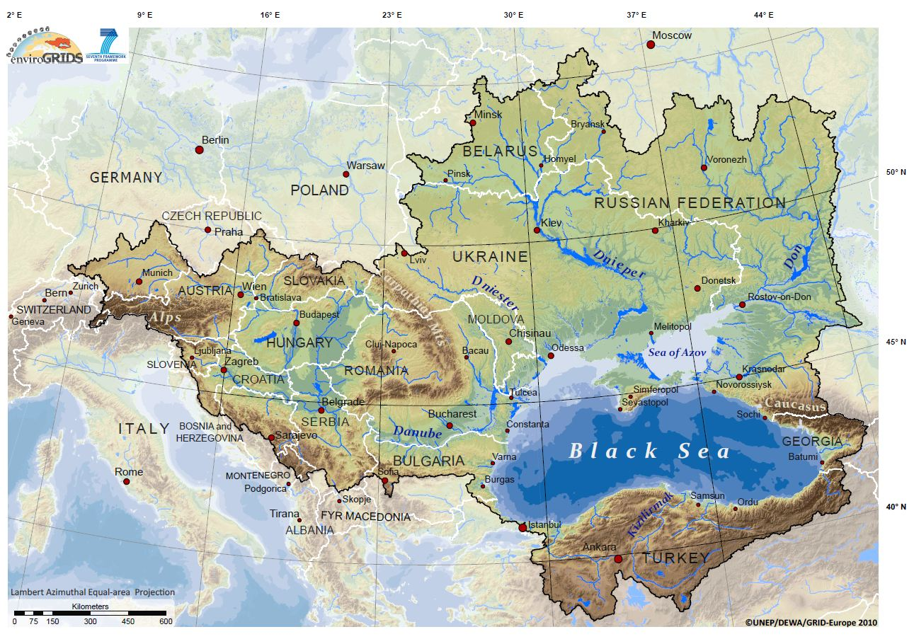 The Geopolitics Of Ukraine Future Economics - Georgia map ukraine