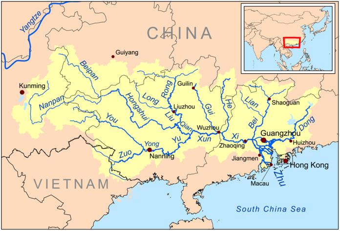 Zhujiangrivermap