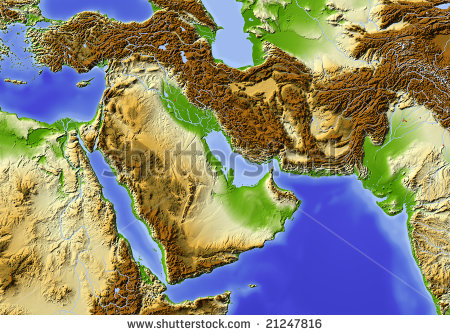 stock-photo-near-east-from-egypt-to-pakistan-shaded-relief-map-colored-according-to-elevation-data-source-21247816