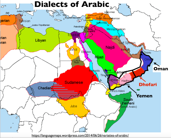Arabic-Dialects-Map