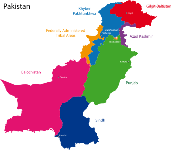 PakistanProvincesMap