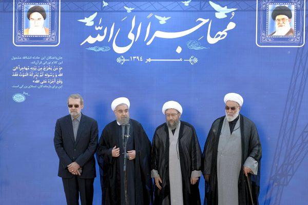 Ali-Larijani-Hassan-Rouhani-Sadeq-Larijani-Mohammad-Golpayegani-600x400