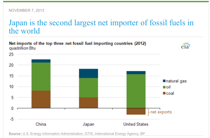 fossil fuel importers