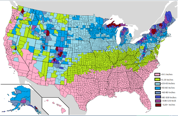 US Snow Map