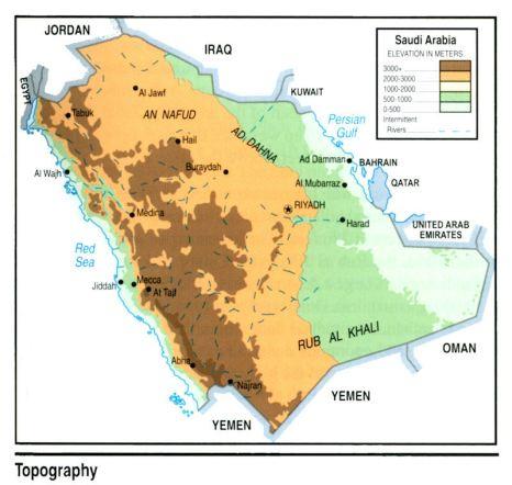 map-saudi-toppography