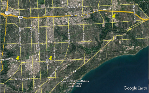 Where Eglinton Crosstown and East LRTs meet hydro corridor.png