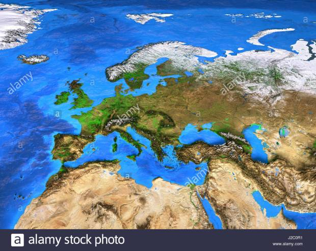 europe-map-detailed-satellite-view-of-the-earth-and-its-landforms-J2C0R1.jpg